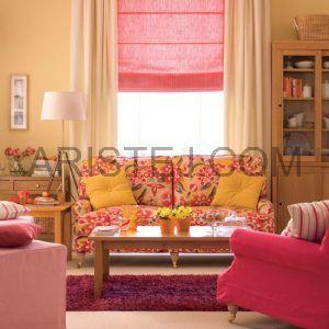 Римські штори Але не всіх влаштовують однакові штори в усьому будинку. Часто в спальню або вітальню хочеться чогось особливого, більш оригінального. Якщо ви теж так вважаєте, тоді варто звернути увагу на такий оригінальний варіант штор, як римські. Вони виглядають дуже красиво і ефектно: при піднятті штори тканину збирається глибокими оригінальними складками, що нагадують хвилі. Римська штора складається з полотна тканини і карниза. На тканини горизонтально кріпляться прути з кільцями, через які вертикально протягнуть шнур. Кільця з шнуром розташовані на однаковій відстані, щоб рівномірно піднімати тканину. Чим ширше штора, тим більше кількість шнурів. Піднімається тканину за допомогою карниза і розташованого на ній механізму ланцюжка. Карниз піднімає і опускає тканину, підтягуючи і розпускаючи шнур. Такі штори будуть в будь-якому інтер'єрі виглядати багато і вишукано, наділяючи його «родзинкою». Їх можна вішати як на стулку вікна, так і на віконний отвір.